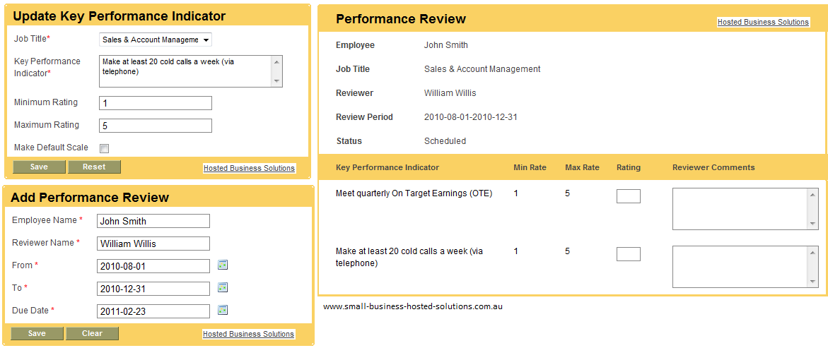 SaaS Hosted HR Management Employee Appraisal Module